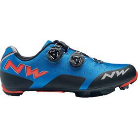 Northwave Rebel Shoes Men blue//lobster orange